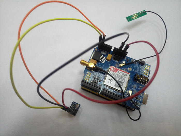 Humidity and temperature upload over HTTP using Arduino UNO, SIM808