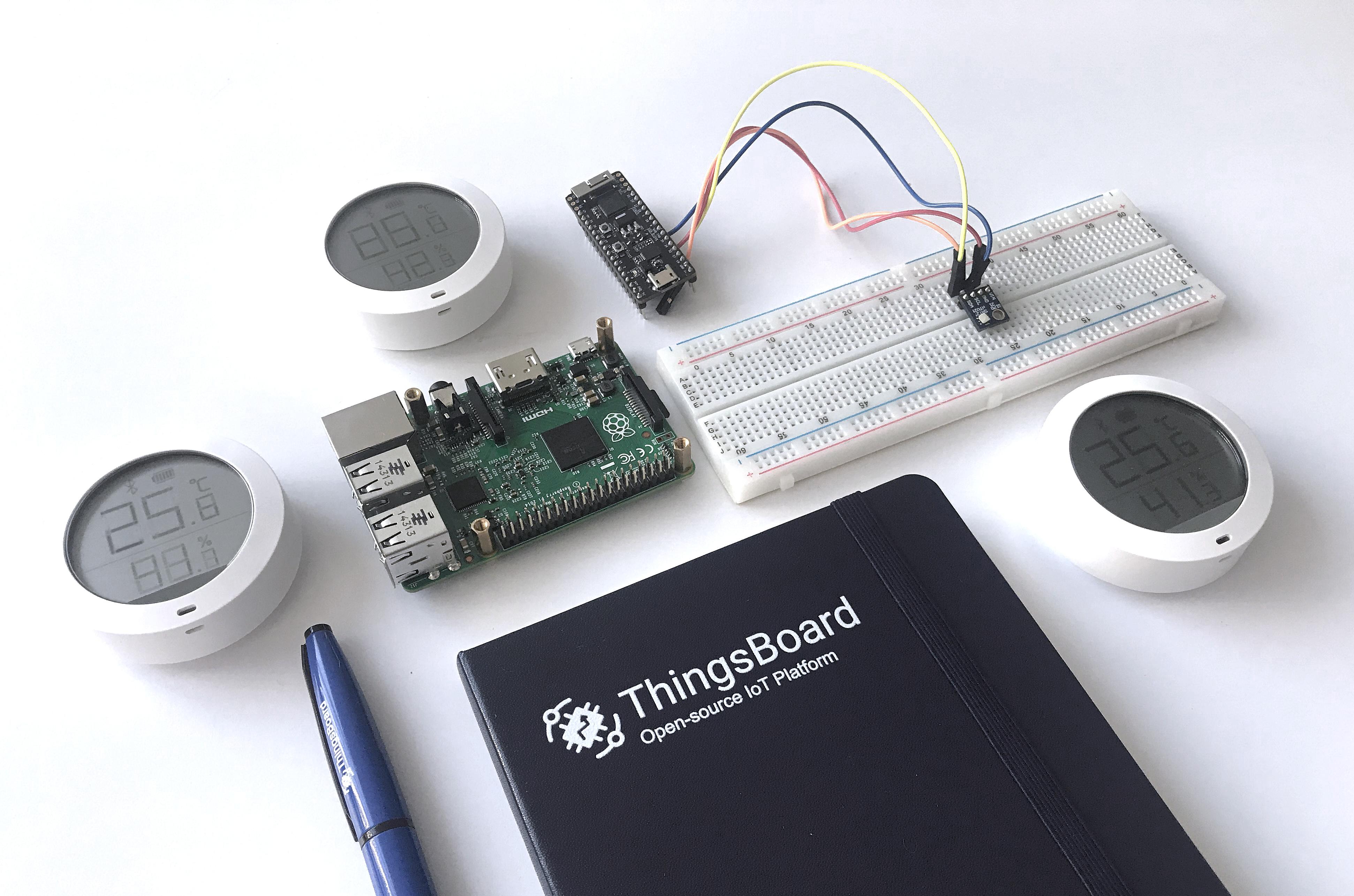Temperature and humidity upload over MQTT using Raspberry Pi, ESP32