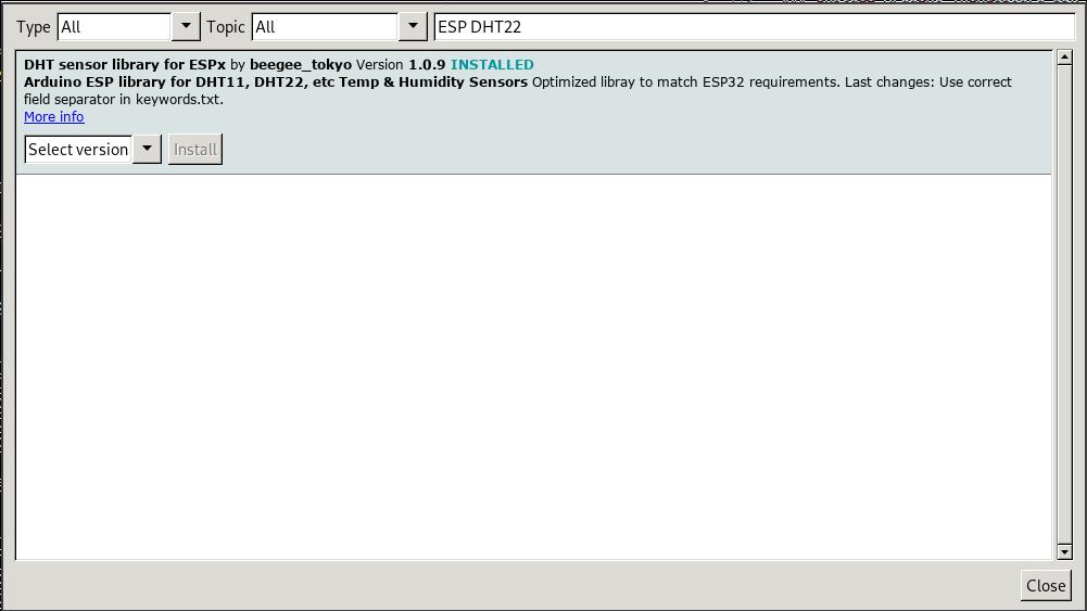 ESP32 Pico Kit GPIO control and DHT22 sensor monitor using