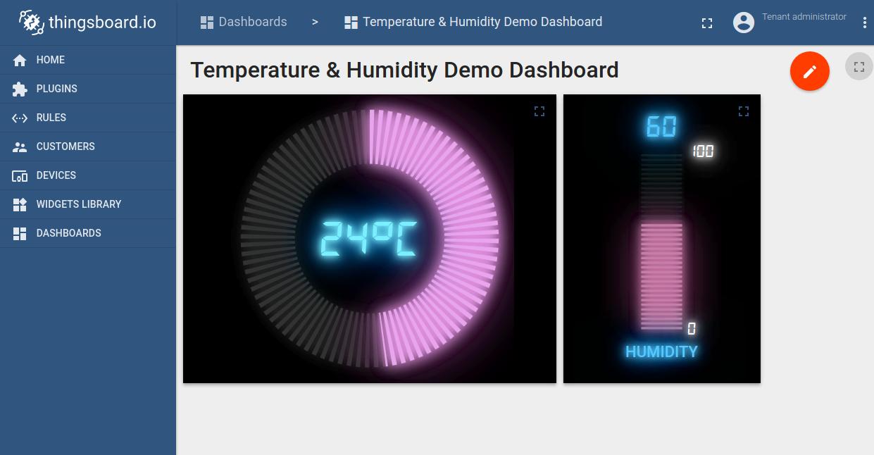 Temperature upload over MQTT using NodeMCU and DHT11 sensor