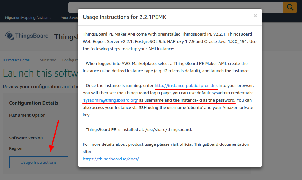 Installing ThingsBoard PE from AWS Marketplace | ThingsBoard