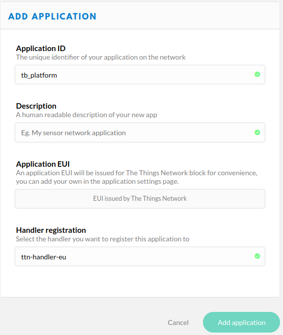 TheThingsNetwork Integration | ThingsBoard